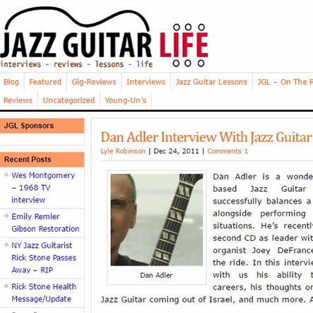Dan Adler Interview With Jazz Guitar Life