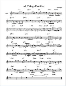 All Things Familiar lead sheet
