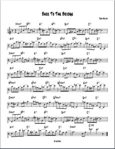 Back to the Bridge lead sheet
