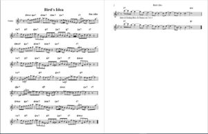 Bird's Idea lead sheet