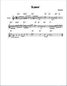 Bluemin' lead sheet