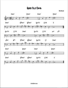 Good Old Days lead sheet
